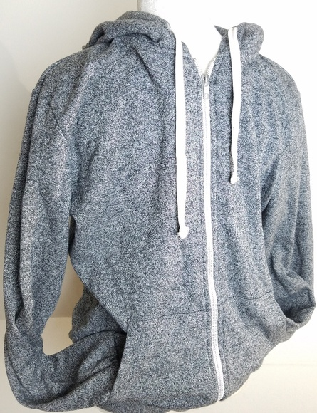 Men/'s H/&M Divided windbreaker gray /& white $50 price tag NWT light and hooded